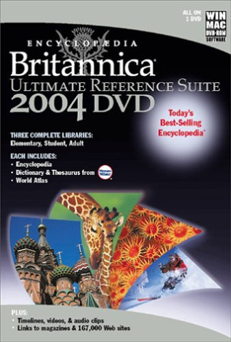 Encyclopaedia Britannica 2004 Ultimate Reference Suite DVD