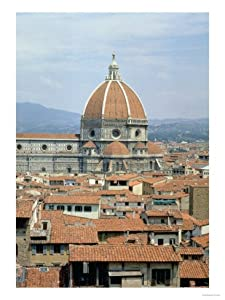 Cupola of the Cathedral Designed by Filippo Brunelleschi, 1418-36 Giclee Print Art (18 x 24 in)