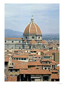 Cupola of the Cathedral Designed by Filippo Brunelleschi, 1418-36 Giclee Print Art (9 x 12 in)