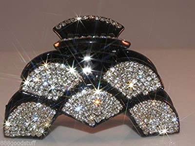 (Ship from USA) New Gorgeous Hair Clip Claw w Shinny Swarovsky Crystals Hair Accessories *JFO468UH12466