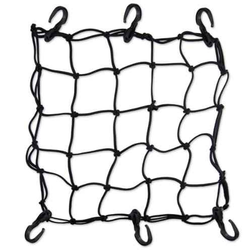 "Xhan Heavy-Duty 15"" Cargo Net For Motorcycles, Atvs - Stretches To 30"" front-793566"