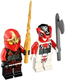 "Lego Kid's Amazon Exclusive 9009648"" LEGO Ninjago Kai & Fang-Suei"" Minifigure Alarm Clocks"