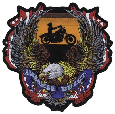 Lethal Threat American Built Biker Embroidered Patch LT30137
