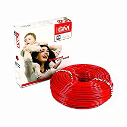 GM Flame Retardant Wire - 1 Sq mm (90m, Red)