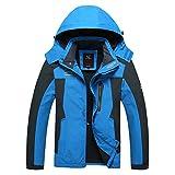 SemiAugust(セミオーガスト) 男性 秋冬 多機能プラスベルベットのジャケット 登山服 UVカット率99% 防水/透湿/軽量/耐摩耗/防汚 四色 カラーはブルー サイズは7XL