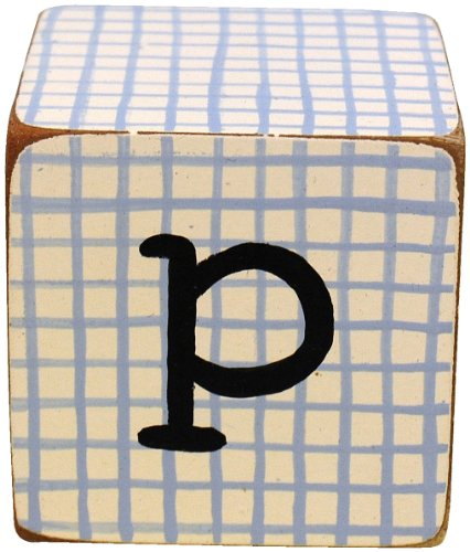 New Arrivals Letter Block P, Blue/White