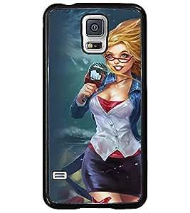 Printvisa Reporter In A Strom Back Case Cover for Samsung Galaxy S5 G900i::Samsung Galaxy S5 i9600::Samsung Galaxy S5 G900F