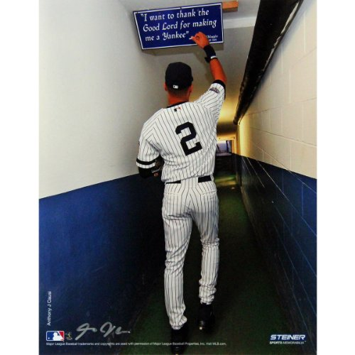 Derek Jeter Color Shot In Tunnel At The Original Yankee Stadium Vertical 16X20 Photo Uns (Signed By Photographer Anthony Causi) front-1011113