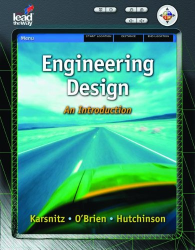 Engineering Design: An Introduction (Texas Science)