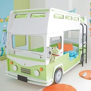 Autobett Bus inkl Lattenrost + Einlegeboden Rennautobett ...