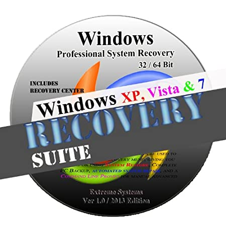 Windows Advanced System Recovery disk (XP / VISTA / WIN7) Live Boot CD 32/64 bit DVD. (disc is comparable with Home Basic, Home Premium, Business, and Ultimate)