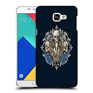 Snoogg Lady And Skull Designer Protective Back Case Cover For SAMSUNG A9