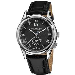 Stuhrling Prestige Men's 364.33151 Prestige Swiss Made Laureate Quartz Dual Time Black Watch