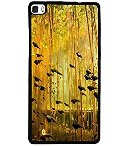 ColourCraft Lovely Birds Design Back Case Cover for HUAWEI P8