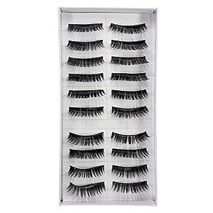 20 Pairs Natural Makeup False Fake Eyelash Eye Lashes (thick1)