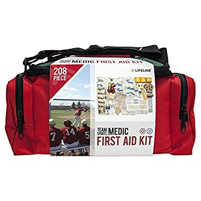 Tactical First Aid Kit: Lifeline Lifeline Team Sports Medic First Aid Kit - 208 Pieces by Lifeline