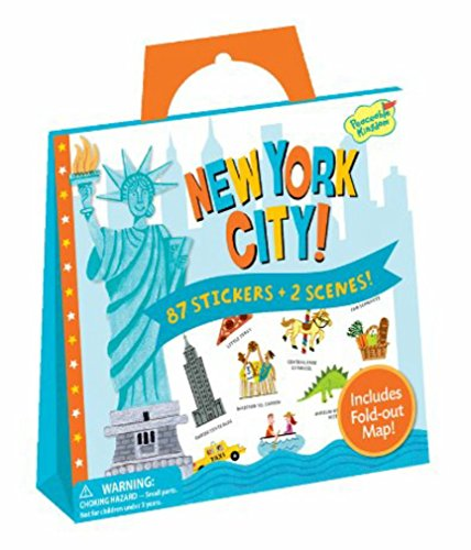 Peaceable Kingdom / Sticker Fun! New York City Reusable Sticker Tote front-1079015