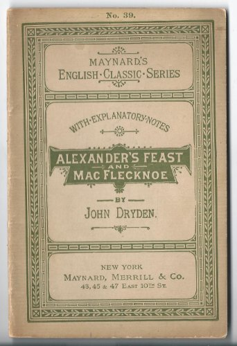 mac flecknoe essays