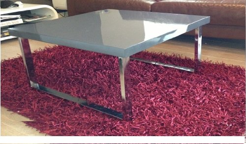 WAS £149.00 NOW ONLY £59.00#KAI SQUARE COFFEE TABLE IN GLOSS GREY