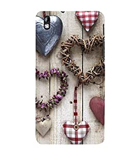 Vizagbeats heart shapes Back Case Cover for HTC Desire 816::HTC Desire 816 G