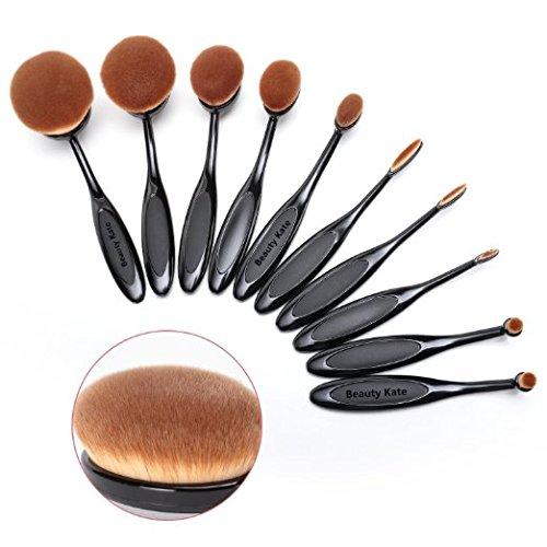 beautykate-set-of-10-pcs-professional-oval-toothbrush-makeup-brush-set-black-super-soft-cosmetics-fo