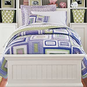 Amazon.com: Pottery Barn Kids Lavender Katie Patchwork Quilted Bedding ...