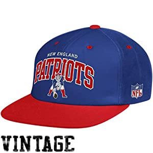 Mitchell & Ness New England Patriots Flat Brim Snap Back Hat Adjustable by Mitchell & Ness