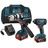 Bosch CLPK222-181 18-volt Lithium-Ion 2-Tool Combo Kit with 1/2 Hammer Drill/Driver and 1/4 Hex Impact Driver
