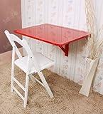 SoBuy-Wandklapptisch-Kchentisch-Klapptisch-Esstisch-aus-Holz-75x60cm-FWT01-Rot