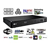LG BP-350 Region Free Blu-ray Player, Multi region Smart Wifi 110-240 volts, 6FT HDMI cable & Dynastar Plug adapter bundle Package (Color: black, Tamaño: Wifi / Smart Region Free)