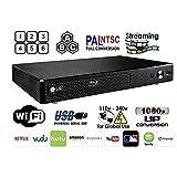 LG BP-350 Region Free Blu-ray Player, Multi Region Smart WiFi 110-240 Volts, 6FT HDMI Cable & Dynastar Plug Adapter Bundle Package (Color: black, Tamaño: Wifi / Smart Region Free)