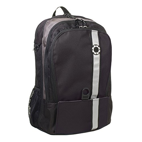 DadGear Backpack Diaper Bag - Black Retro Stripe