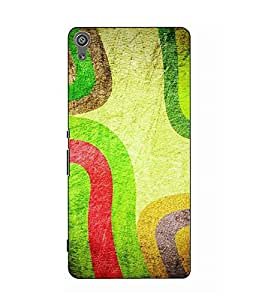 Snazzy Abstract Printed Colorful Hard Back Cover For Sony Xperia XA Dual