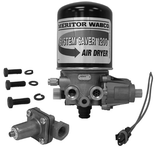 Meritor WABCO System Saver 1200 Air Dryer on wabco trailer abs wiring diagrams meritor valves