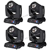 Shipping from USA 6pcs 230W Sharp Beam Moving Head Light 7R DMX512 Moving Head DJ Stage Light Lamp Theater Spotlight Lighting Effect (Color: Black)