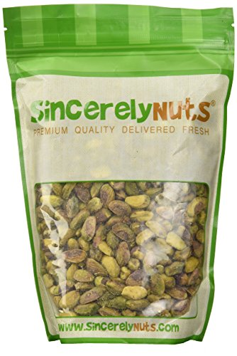 Sincerely Nuts Pistachios Roasted & Unsalted Kernels (No Shell) - One (1) Lb. Bag - Irresistibly Delish and Crunchy - Bursting with Antioxidants - Kosher (Roasted Unsalted Pistachios compare prices)