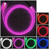 長浜 12V 用 LED フレキシブル アクリル ファイバーライト フリーカット Φ 3mm ( LED ピンク 4個 )