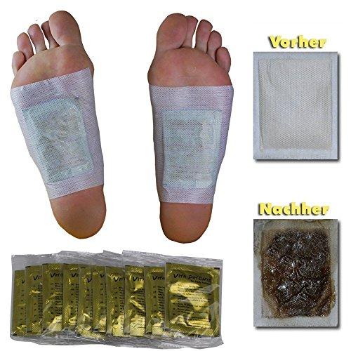 PROBE ZUM TESTEN! 10 x Vita Patchy® Vitalpflaster Gold mit hochwertigem Turmalin Fusspflaster Pflaster Pad Entgiften Detox