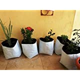 Evergreen Terrace Gardening Poly Grow Bag UV Stabilized - [24Cms(L)X24Cms(W)X40Cms(H)]- 5 Qty