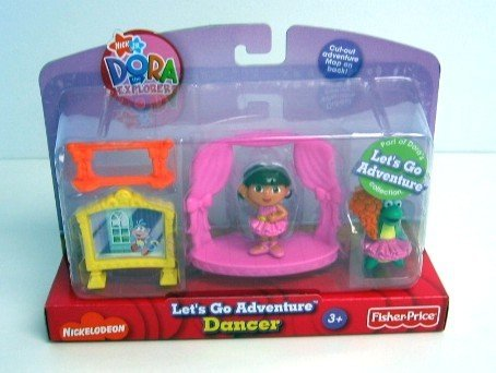 Dora the explorer Let's go adventure Dancer play set ~ 5 Pieces - 1