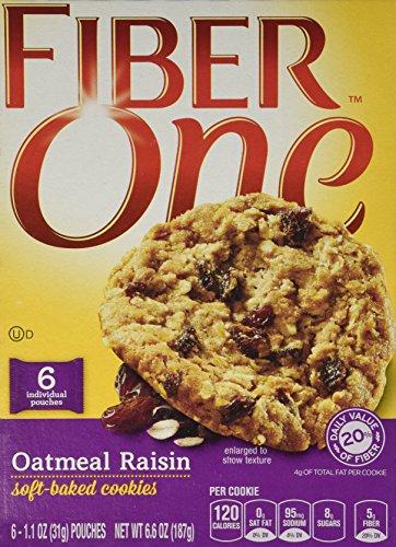 general-mills-fiber-one-soft-baked-cookies-oatmeal-raisin-66oz-box-pack-of-4
