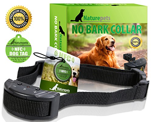 ONE DAY SALE No Bark Collar By Naturepets - No Harm Shock Dog Control - 7 Sensitivity Adjustable Levels for...