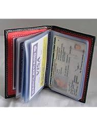 Torino Black & Red Leatherette Card Holder For Unisex