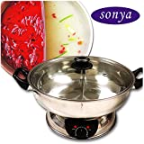 Sonya Shabu Shabu Hot Pot Electric Mongolian Hot Pot W/DIVIDER