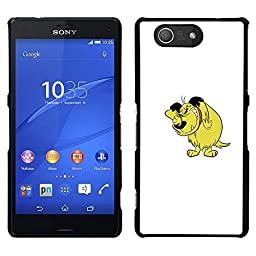 A-type Colorful Printed Hard Protective Back Case Cover Shell Skin for Sony Xperia Z3 Compact ( Dog Cartoon Comic Character Drawing Art)