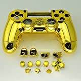 3CLeader® Controller Case Skin Cover Shell for PS4 with Buttons Gold