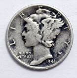 1941 Liberty Head Mercury Dime Seller Good