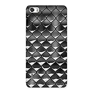 Ajay Enterprises Powerful Cage Snow Back Case Cover for Honor 6
