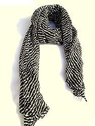 lotusa black line scarf
