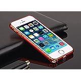 esorio® Apple iPhone 5 / 5S Aluminium Bumper Case Hülle Rahmen Alu Gehäuse - 100% Geld-zurück-Garantie // rot